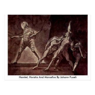 Hamlet, Horatio And Marcellus By Johann Fuseli Postcard