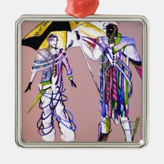 hamlet & horatio go to American Metal Ornament