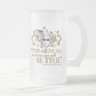 """Hamlet """"own self be true"""" Quote (Gold Version) Mugs"""
