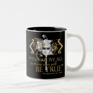 Hamlet own self be true Quote Gold Version Coffee Mug