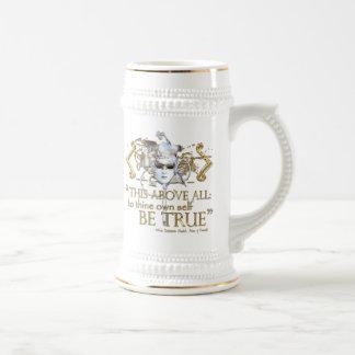 "Hamlet ""own self be true"" Quote (Gold Version) Mug"