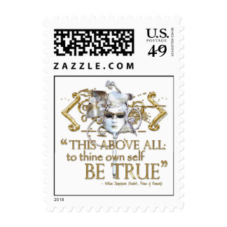 """Hamlet """"own self be true"""" Quote (Gold Version) Postage"""