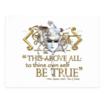 "Hamlet ""own self be true"" Quote (Gold Version) Post Cards"
