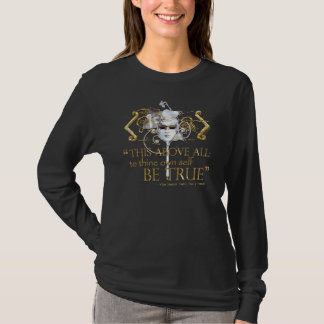 "Hamlet ""own self be true"" Quote (Gold Version) T-Shirt"