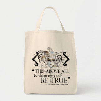 """Hamlet """"... own self be true ..."""" Quote Tote Bag"""