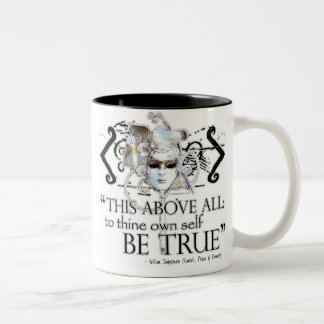 """Hamlet """"... own self be true ..."""" Quote Two-Tone Coffee Mug"""