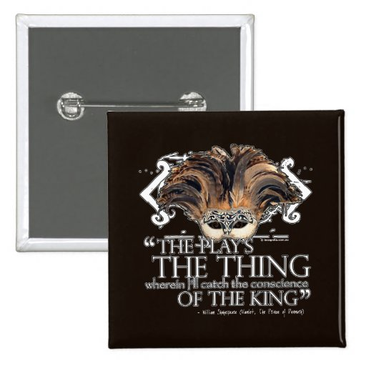 Hamlet Play Quote 2 Inch Square Button