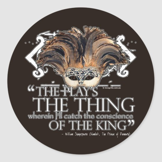 Hamlet Play Quote Classic Round Sticker