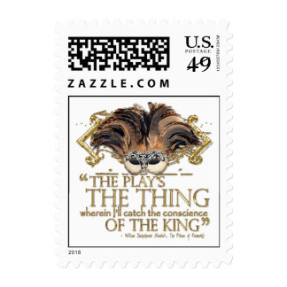 Hamlet Play Quote (Gold Version) Postage