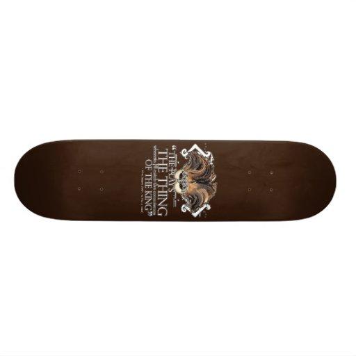 Hamlet Play Quote Custom Skateboard