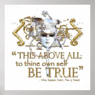 Hamlet poseer a uno mismo sea cita verdadera la poster