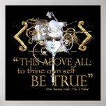 """Hamlet """"poseer a uno mismo sea"""" cita verdadera (la poster"""