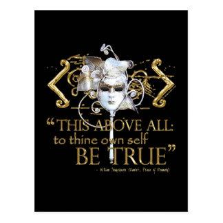 """Hamlet """"poseer a uno mismo sea"""" cita verdadera (la postal"""