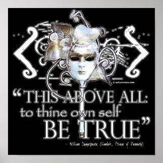 Hamlet … poseer a uno mismo sea… cita verdadera poster