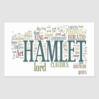 Hamlet! Rectangular Sticker