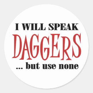 Hamlet s Daggers Stickers