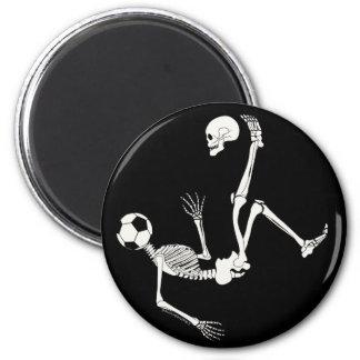 Hamlet Soccer Skull 2 Inch Round Magnet