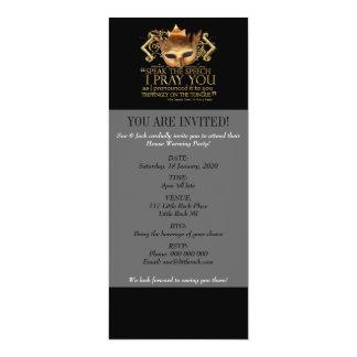 "Hamlet ""speak the speech ..."" Quote (Gold Version) Card"