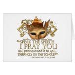 "Hamlet ""speak the speech ..."" Quote (Gold Version) Greeting Card"