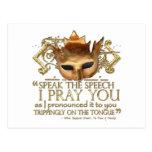 "Hamlet ""speak the speech ..."" Quote (Gold Version) Post Card"