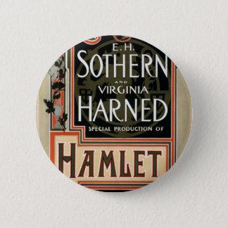 Hamlet Vintage Theater Button