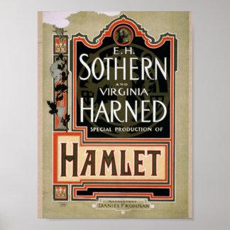 Hamlet Vintage Theater Print