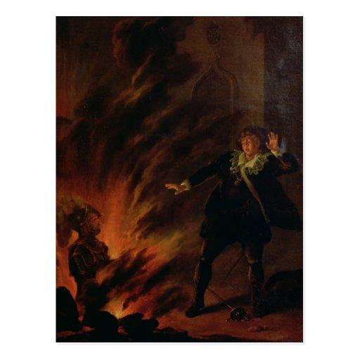 Hamlet y el fantasma de su padre postal