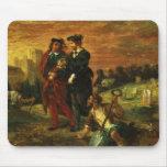 Hamlet y Horatio en el cementerio, 1859 (aceite en Alfombrilla De Ratones