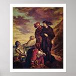 Hamlet y Horatio en el cementerio Posters