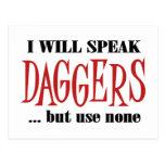 Hamlet's Daggers Postcards