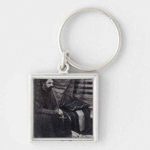 Hamlin Garland in his Cheyenne Teepee Smoking Keychain