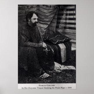 Hamlin Garland in his Cheyenne Teepee Smoking Poster