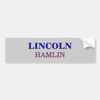 HAMLIN, LINCOLN PEGATINA PARA AUTO
