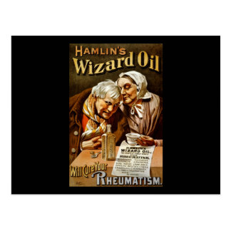 Hamlin's Wizard oil will cure your rheumatism Postcard