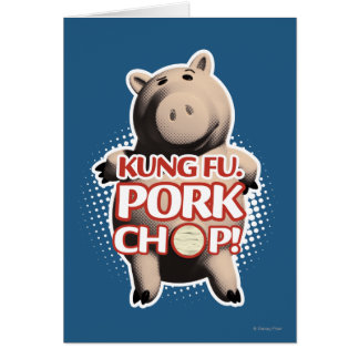 Hamm Kung Fu Chuleta de cerdo Felicitaciones