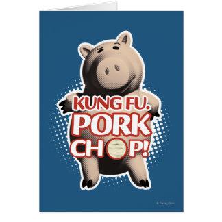 Hamm: Kung Fu. Chuleta de cerdo Tarjeta De Felicitación