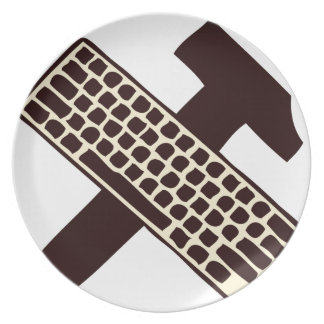 Hammer and keyboard party plates