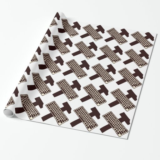 Hammer and keyboard wrapping paper