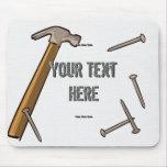 Hammer and Nails Mousepad