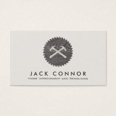 Hammer And Saw Carpenter Home Improvement Business Card at Zazzle