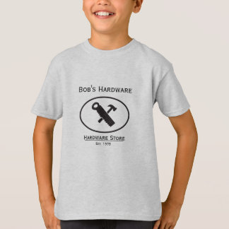 Hammer and Saw Design T-Shirt