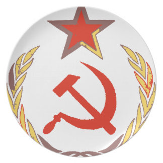 hammer and sickle and star plates
