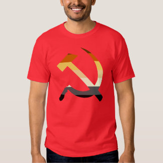 Hammer And Sickle Bear Pride Flag Colors T Shirt