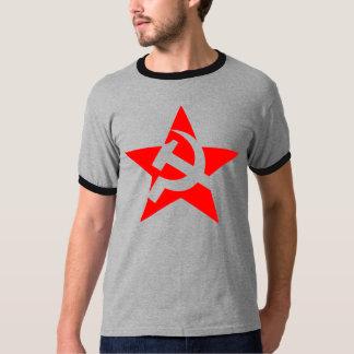 Hammer and sickle big star- 'ringer' T-shirt