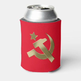 Hammer and sickle can cooler