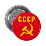 hammer and sickle cccp ussr pinback button