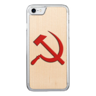 Hammer and Sickle Cell Phone Carved iPhone 8/7 Case