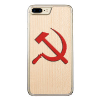 Hammer and Sickle Cell Phone Carved iPhone 8 Plus/7 Plus Case