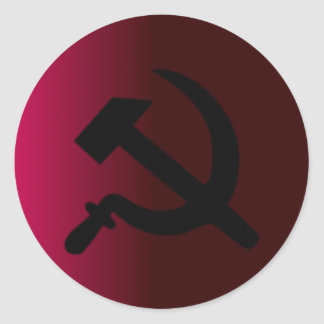 Hammer and Sickle Classic Round Sticker