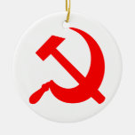 Hammer and Sickle Double-Sided Ceramic Round Christmas Ornament